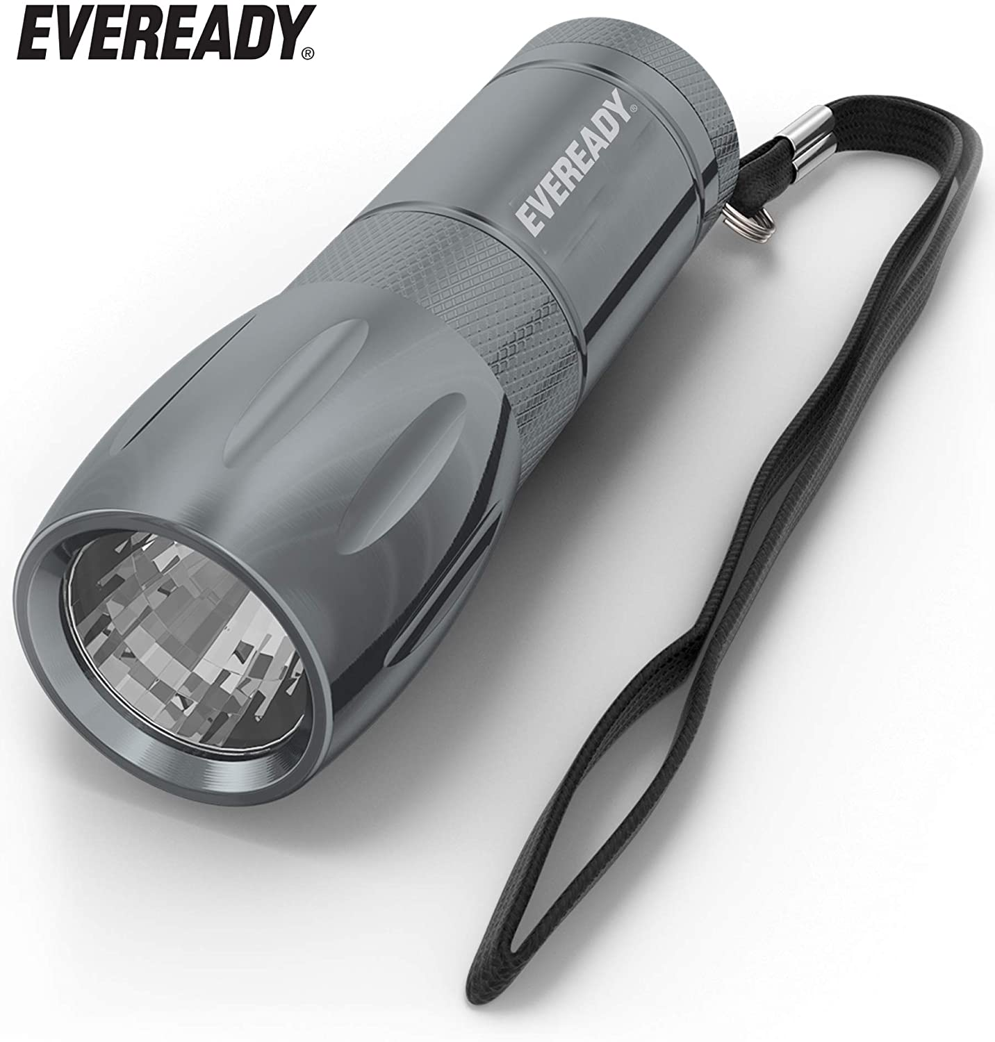 Eveready LED Flashlight, Bright White Light, Compact and Portable Everyday Carry, Durable Metal Body, Long-Lasting Battery Life, 3 AAA Batteries Included