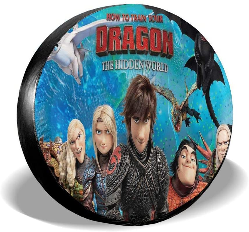 Wehoiweh How to Train Your Dragon Tire Covers Tough Tire Wheel Protector Universal Fits Tire (14