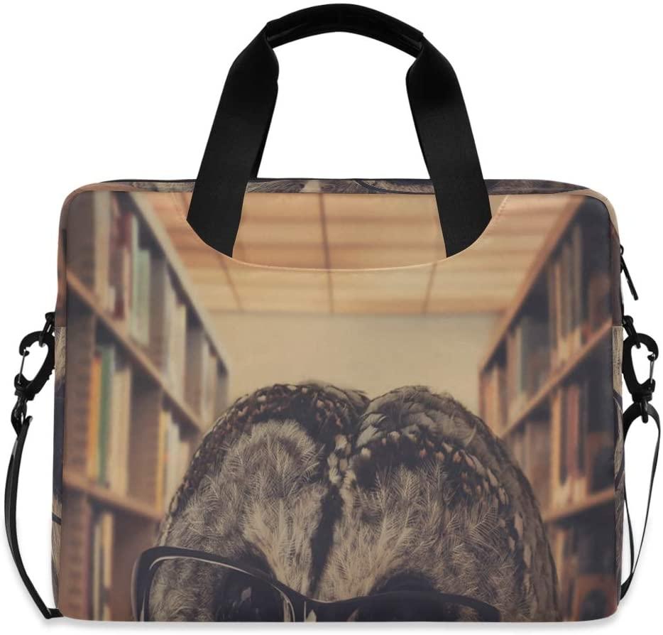 Laptop Bag, Funny Owl Reading Book Laptop Briefcase Bag, 16 Inch Slim Laptop Backpack Laptop Case