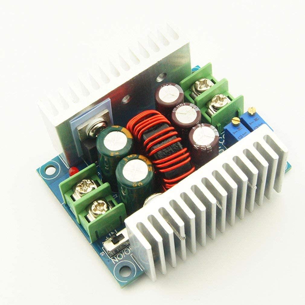 300W 20A Constant Current Adjustable Step Down Converter Voltage Buck Module(Color:Multicolor)