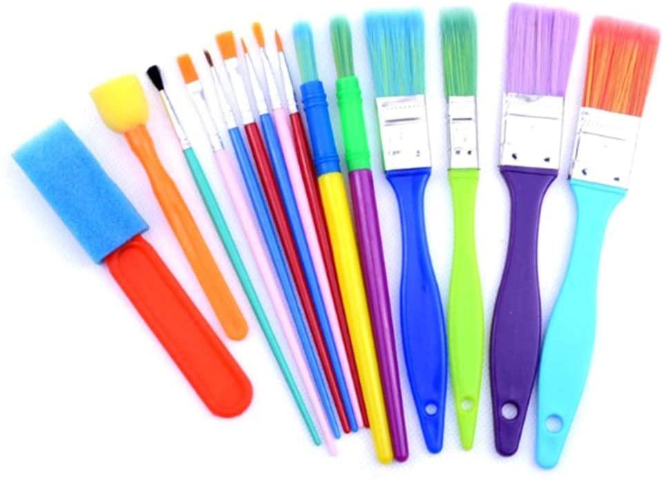 QINYUAN Sponge Paint Brushes Kits Painting Brushes Tool Kit for Kids Early DIY Learning Foam Brushes Pattern Brushes Set