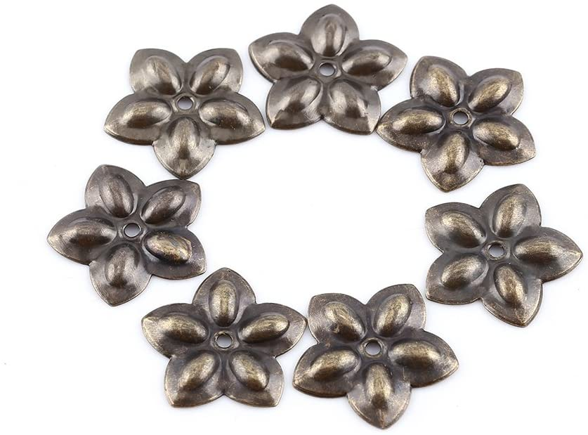 Hilitand 100pcs Upholstery Tacks, Furniture Nails Pins Sofa Rivet Upholstery Pins Craft Thumbtack Tack, Antique Brass (K245 Plum Nail 23mm)