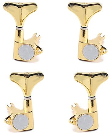 ROSENICE Guitar Bass Tuning Pegs Machine Heads Bass Replacement Parts Gold 2R2L