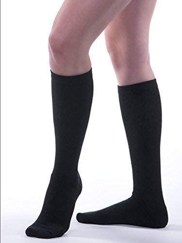 Allegro 20-30mmHg Athletic 325 Support Compression Socks (Black) Large