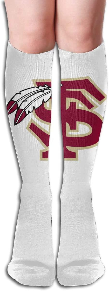 FSU Men's/Women's Comfortable Casual Funny Long Knee High Socks Compression Socks Winter Warm Soccer Socks