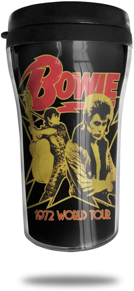 David Bowie Stainless Steel Insulated Coffee Cup, Double-Layer Vacuum Insulated Cup with Lid, Used for Hot and Cold Drinks.