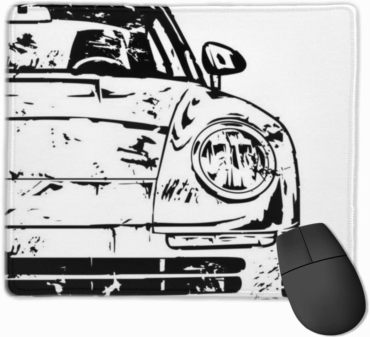 Gaming Mouse Pads Non-Slip Rubber Base Mousepad Mouse Car Simple Dynamic Engine Mat for Desktops Computer Office Laptops Polyester Silky Smooth Super Light Slip Rectangle