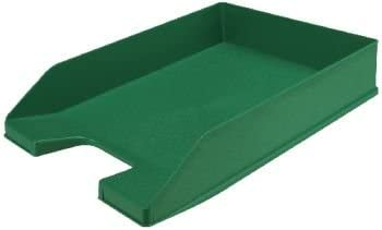Q Connect 936180 Archivo Letter Tray A4 Stackable 24 x 32 cm/35 x 25.5 x 6.5 cm Green/Opaque