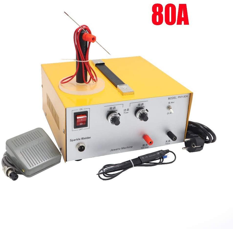 QWERTOUY High-Power Laser spot Welder Pulse spot Welding Touch Welder Welding Machine with Jewelry Equipment 0.4mm-1.5mm