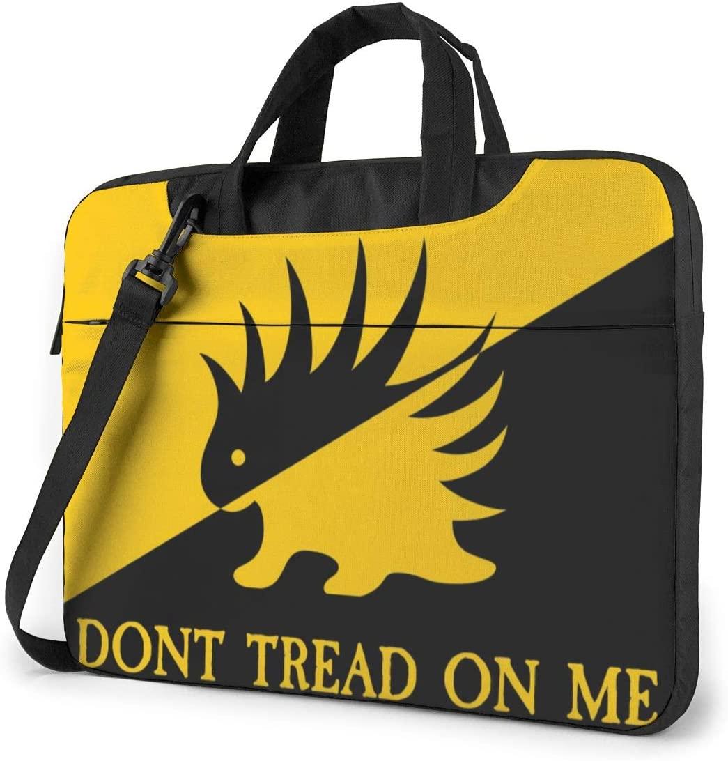 N/C Libertarian Porcupine Hedging Waterproof Laptop Shoulder Messenger Bag, Computer Protective Case, Briefcase, Unisex, Exquisite Style.13 Inch