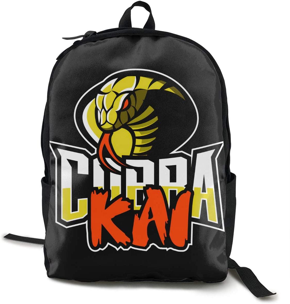 Wehoiweh Classic Cobra Kai Backpack School Bag Laptop Daypack Bookbagblack