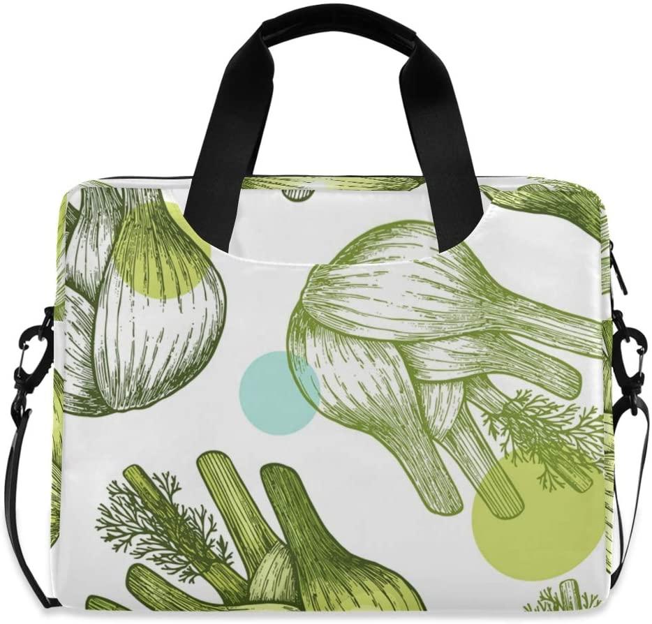 Laptop Bag, Fennel Bulb Seamless Pattern Laptop Briefcase Bag, 16 Inch Slim Laptop Backpack Laptop Case