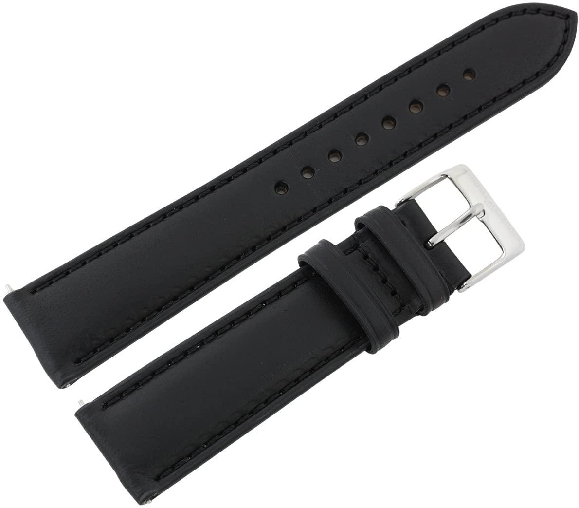 Thomas Alexandre [Change Strap for Watch 20mm] Adjuster Spring Rod Type Black Leather Belt