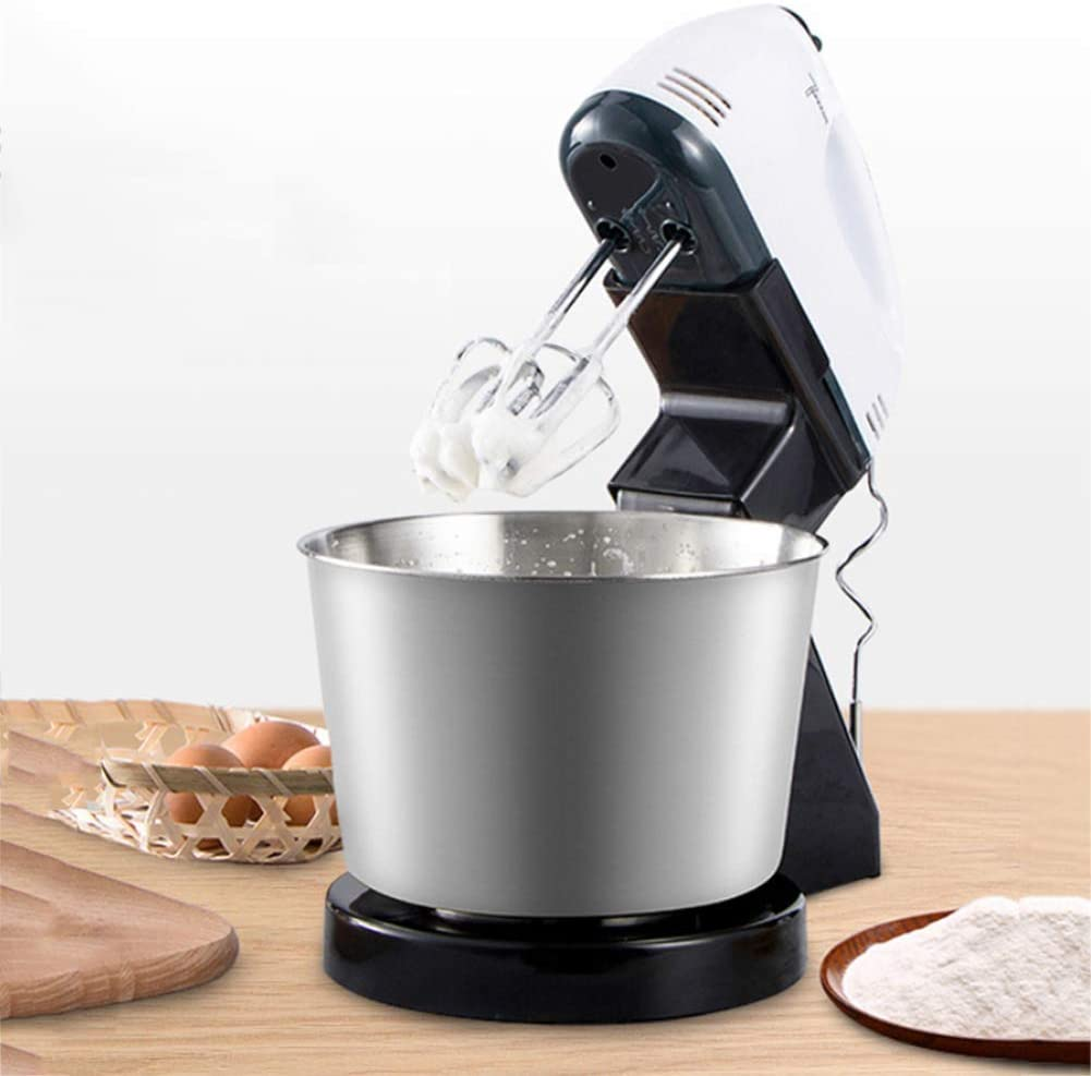 LUSHUN Stand Mixer 2 in 1 Electric Mixer Hand Mixer, 7-Speed Electric Hand Mixer with Bowl Rest, with Turbo Function Include Dough Hooks & Mixer Beaters
