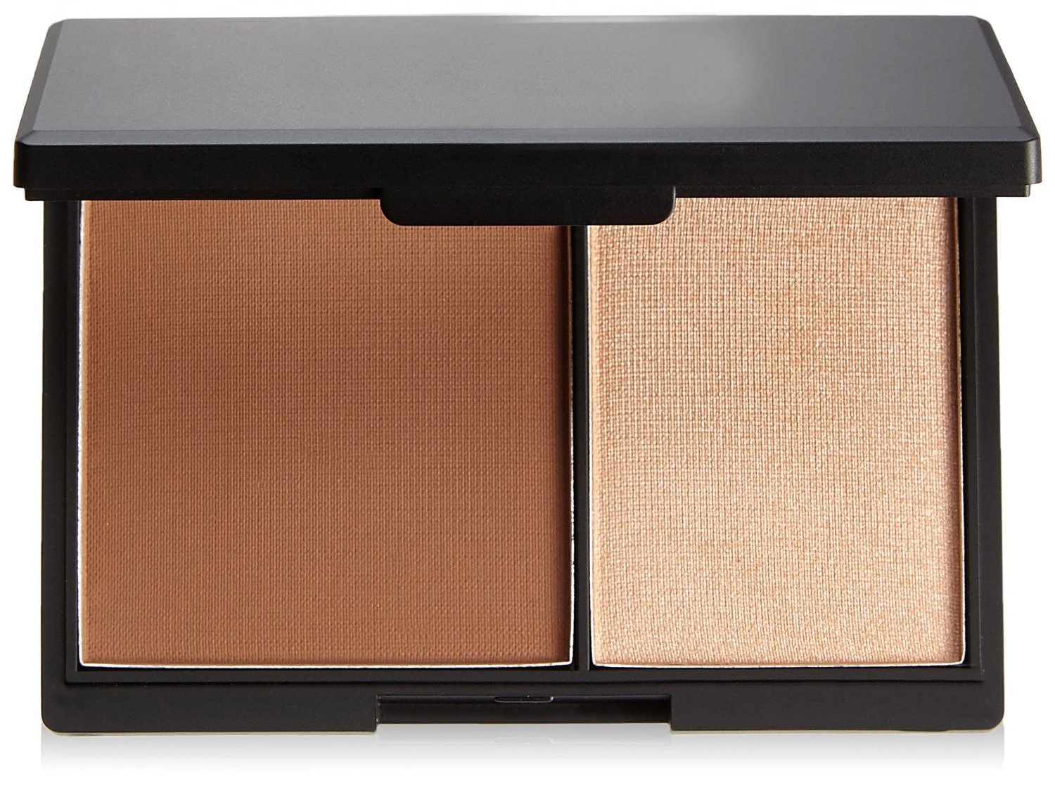 Makeup duo for highlight and contour. Small box with mirror, Medium tone by DELIAWINTERFEL