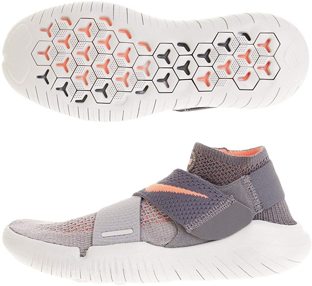 Nike Free RN Motion FK 2018 Womens Shoes Size 6 Grey/Coral