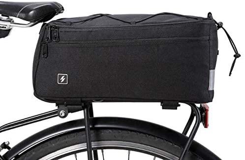 JPONLINE 8L Bike Rear Rack Bag Waterproof Outdoor Cycling Bicycle Tail Rear Basket Trunk Shoulder Handbags Bike Accessories