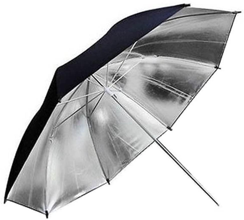 Market&YCY 33Inch 80cm Pro Photography Studio Reflector Black Silver Umbrella, for Study Studio Lighting Photo Photo Flash (Reflective Black/Silver Umbrella)