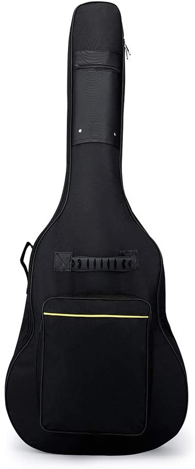 Qiupei Guitar Bag Acoustic Guitar Bag Padded Guitar Gig Bag Case Protective Guitar Case for 40 41 42 Inches Acoustic Classical Guitar for Home Storage Travel (Color : Photo Color, Size : 40/41 inch)