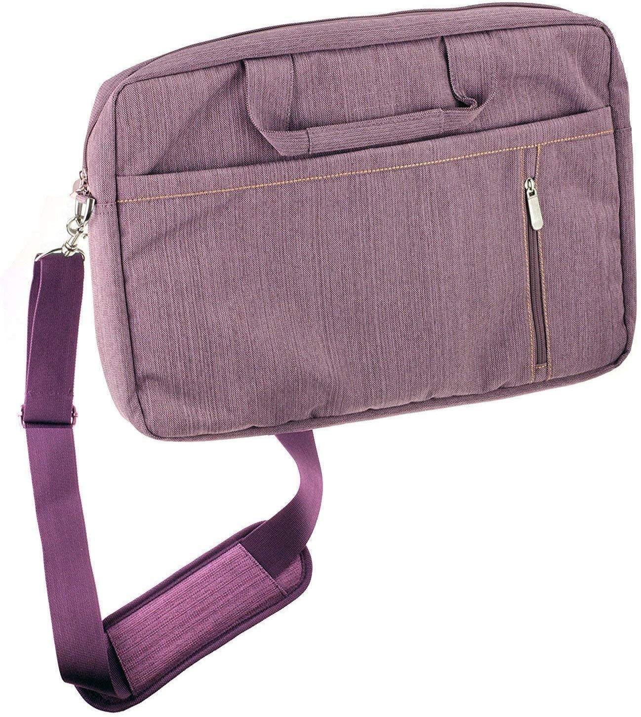 Navitech Purple Premium Messenger/Carry Bag Compatible with The Acer Flagship CB3-532 15.6 HD Premium Chromebook