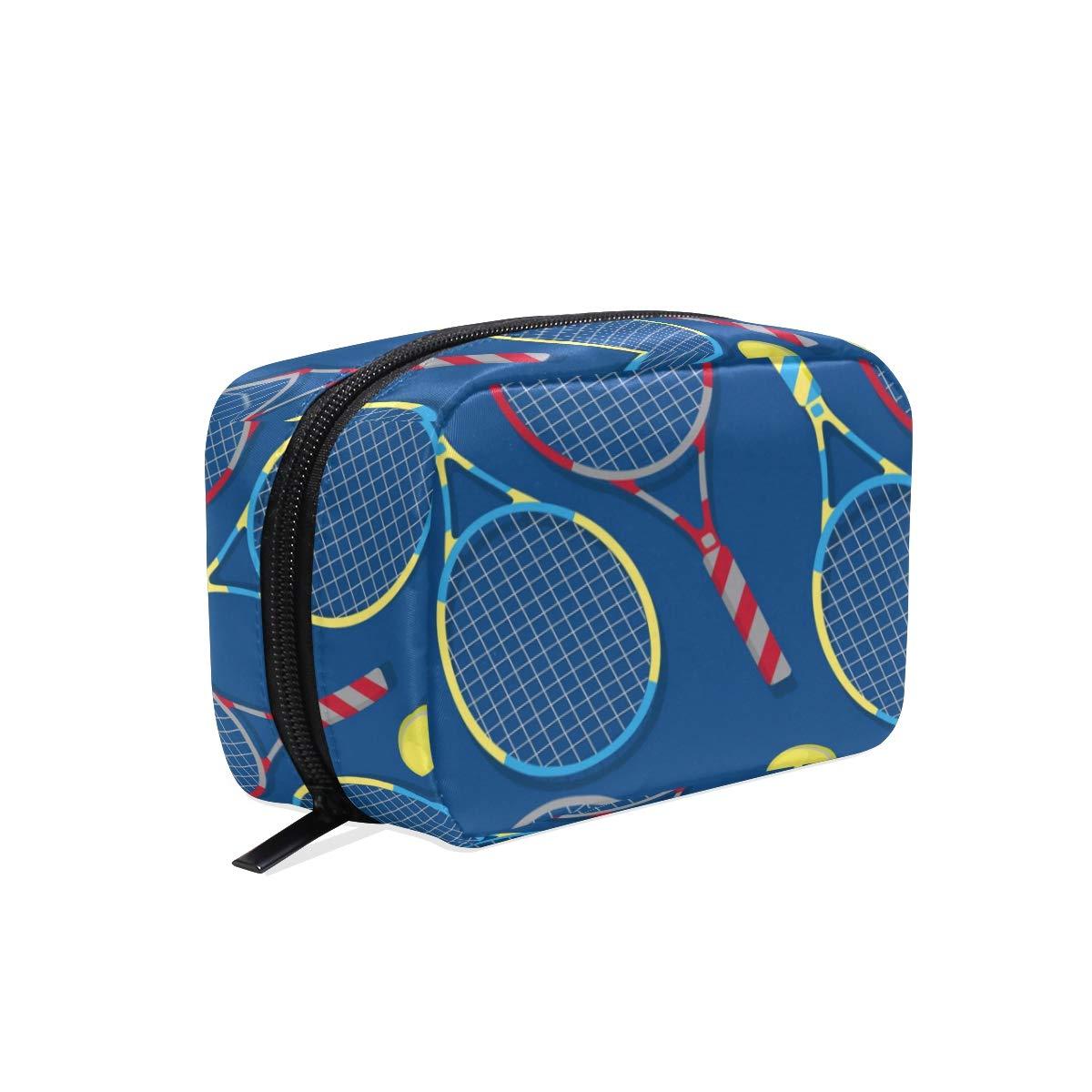 Cosmetic Makeup Bag Pouch Sport Tennis Ball Seamless Pattern Clutch