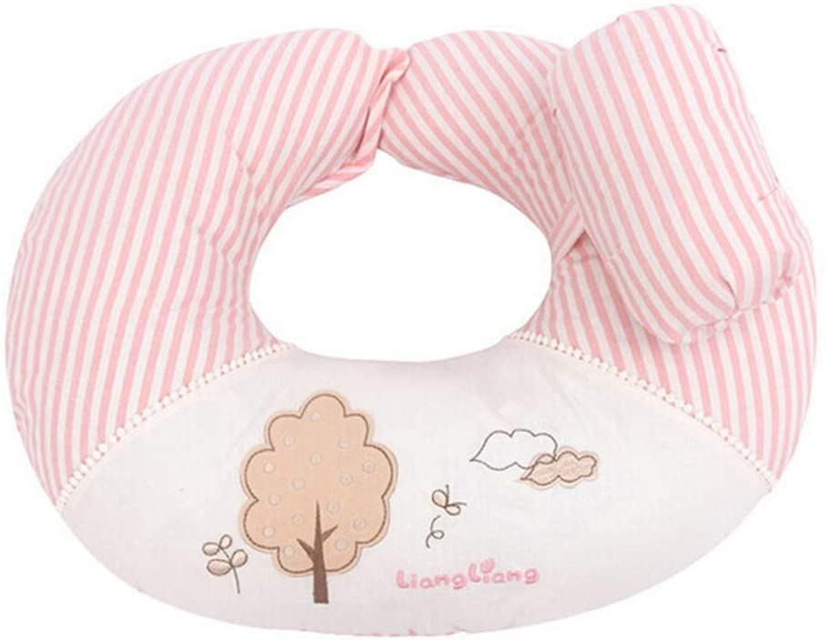 XIONGG Baby Breastfeeding Nursing Pillow and Positioner, U Shape Nursing, Machine Washable Infant Support Pillow,Pink