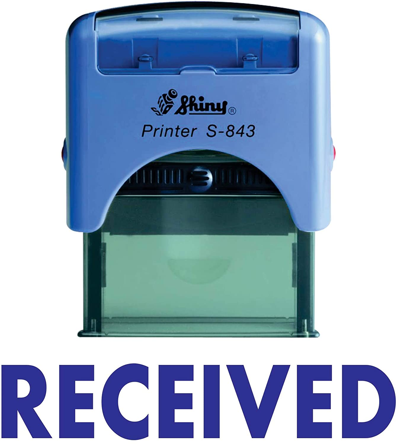 Received Shiny Self Inking Rubber Stamp Office Stationary