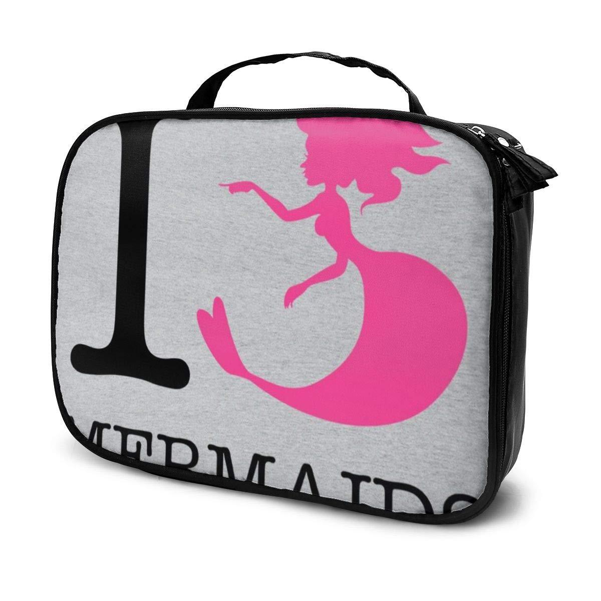 Makeup Bag Cosmetic Pouch Heart Mermaids Multi-Functional Bag Travel Kit