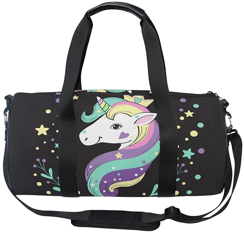 OuLian Gym Bag Unicorn Dream Women Yoga Canvas Duffel Bag Cute Sports Bag for Girls