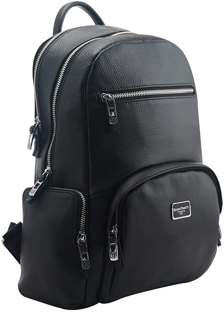 Italian Womens Genuine Leather Backpack Laptop 15 inch with Anti-theft Pocket