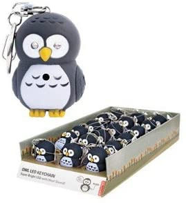 Package of One 1 3/4 Inch OWL LED Light-up Hooting Keychain/ANIMAL Keychain