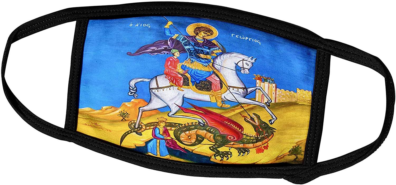 3dRose Danita Delimont - Religion - St George Fresco Saint Georges Greek Orthodox Church Madaba Jordan. - Face Masks (fm_312783_1)