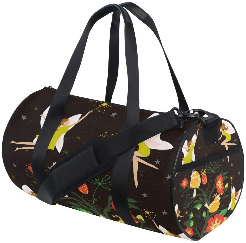 Brighter Fairies At Night Fitness Sports Bags Gym Bag Travel Duffel Bag for Mens and Womens
