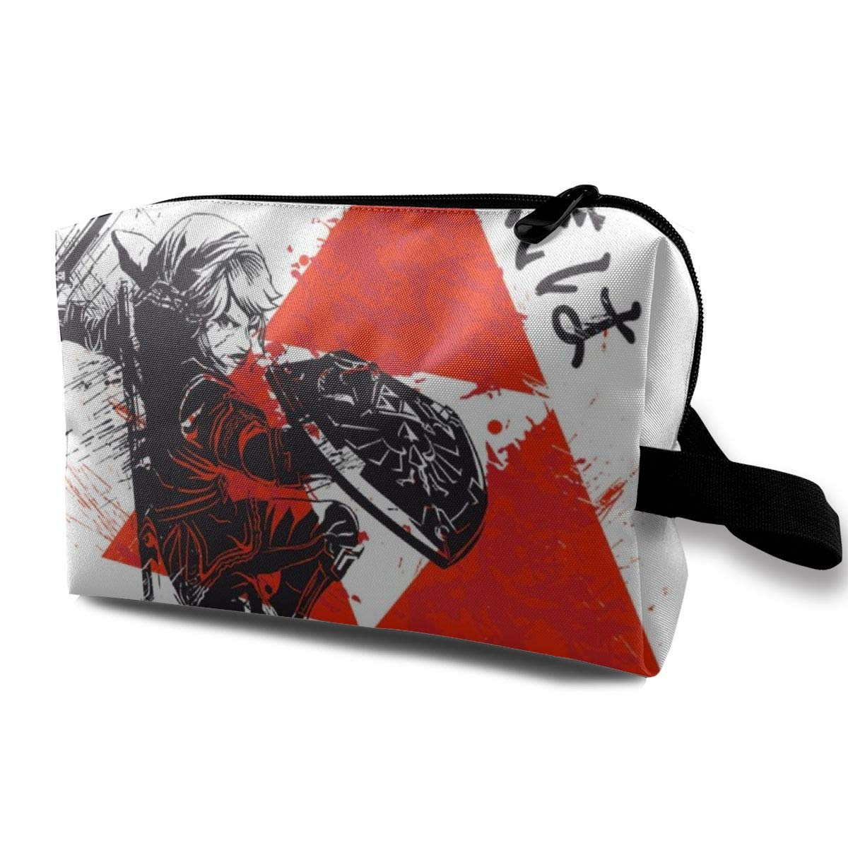 Makeup Bag Cosmetic Pouch Red Sun Hyrule Legend Of Zelda Multi-Functional Bag Travel Kit Storage Bag