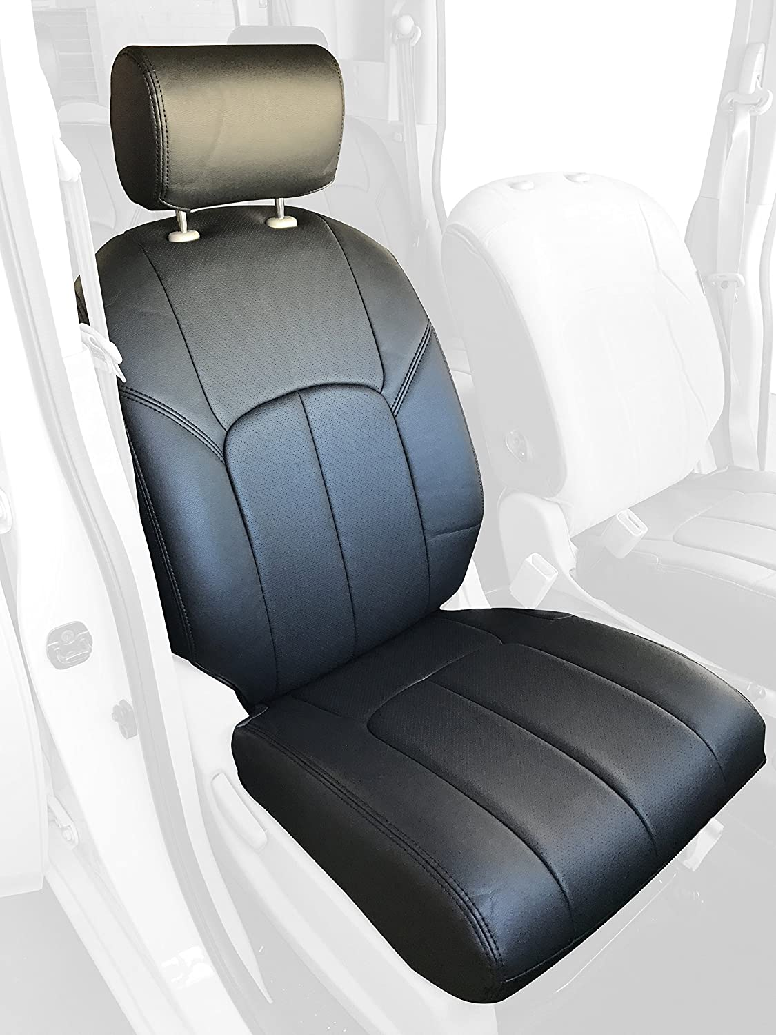 Clazzio AP212022gry Vinyl Seat Cover (Toyota Tacoma, Front and Rear, Grey)
