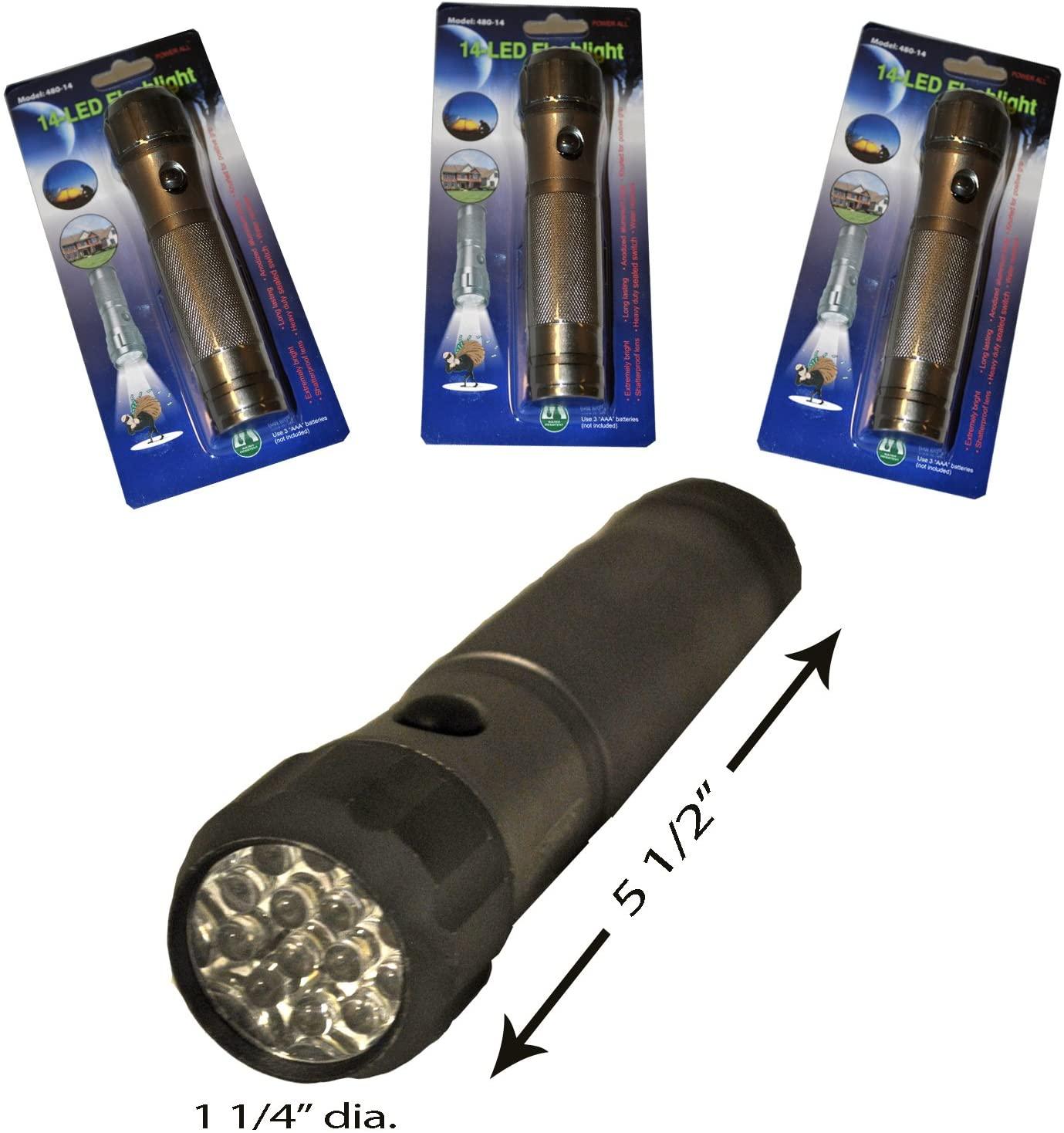Generic 190966 Water Resistant Aluminum Super Bright 14 LED Flashlight