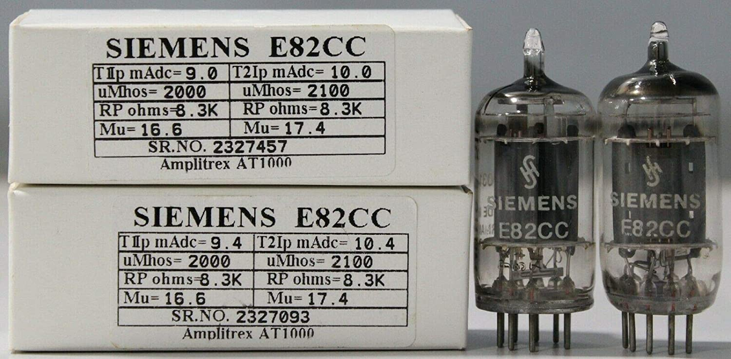 1MP E82CC 12AU7 Siemens Triple mica Made in Germany Amplitrex Tested#2327457&93