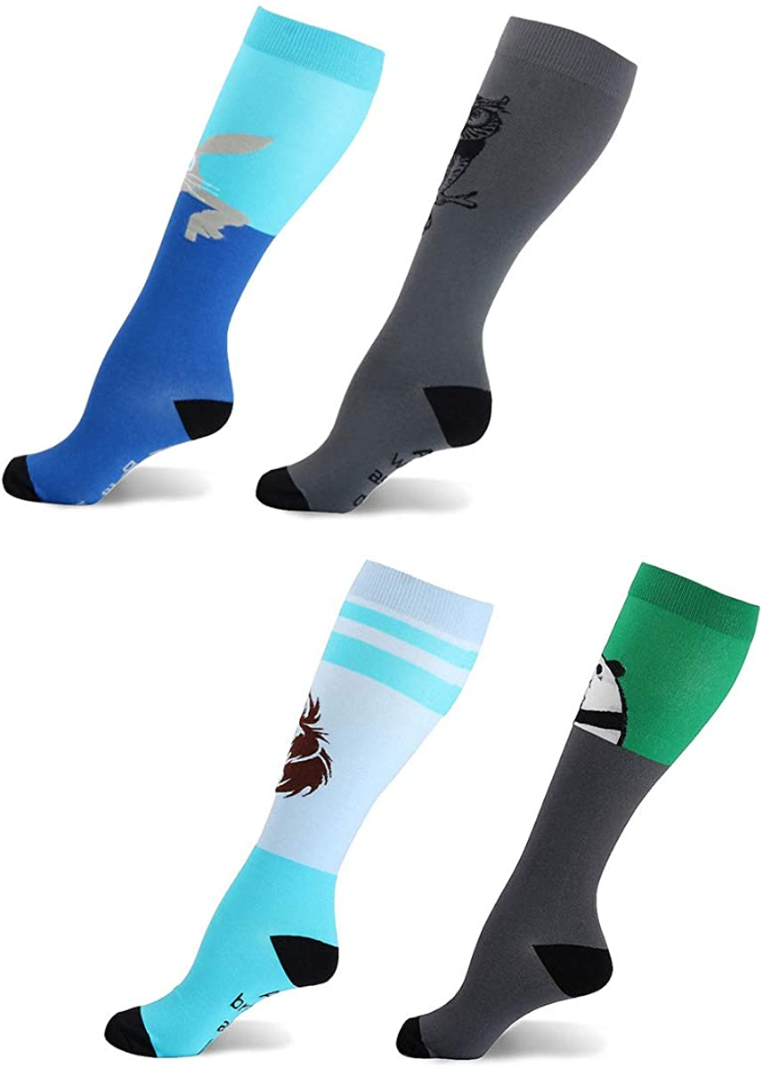 GuaziV Compression Socks For Men & Women Best Sports Socks Compression Stockings for Travel Running Pregnancy Nurse 20-25mmHg