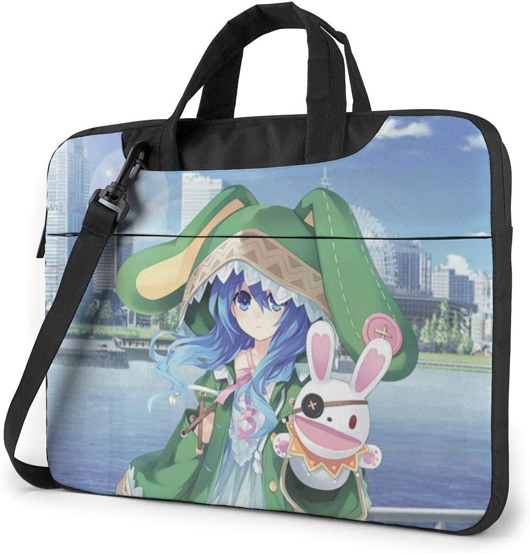 N/D Date A Live Waterproof Laptop Shoulder Messenger Bag, Computer Protective Case, Briefcase, Unisex, Exquisite Style.13 Inch