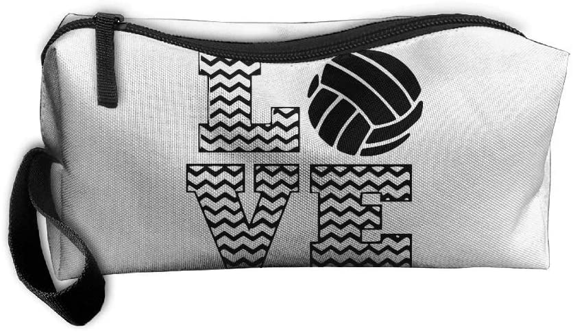Coin Pouch Love Volleyball Pen Holder Clutch Wristlet Wallets Purse Portable Storage Case Cosmetic Bags Zipper