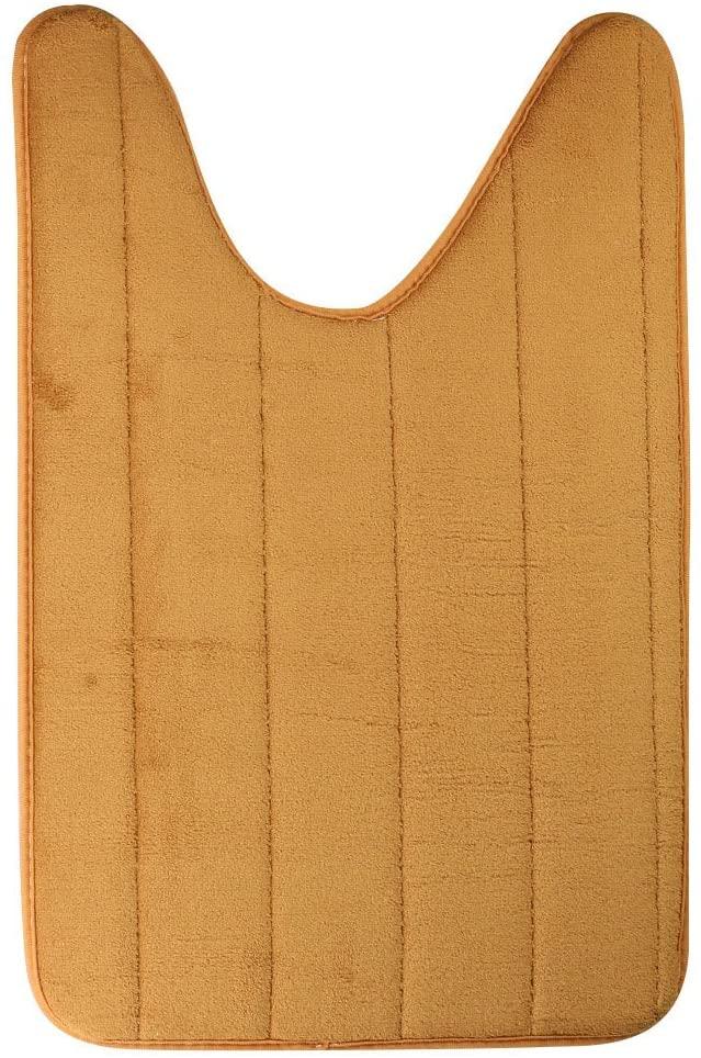 Bluelans U-shaped Cotton Toilet Bathroom Carpet Mat, 40 x 60cm Toilet Rug, Floor Carpet Pad