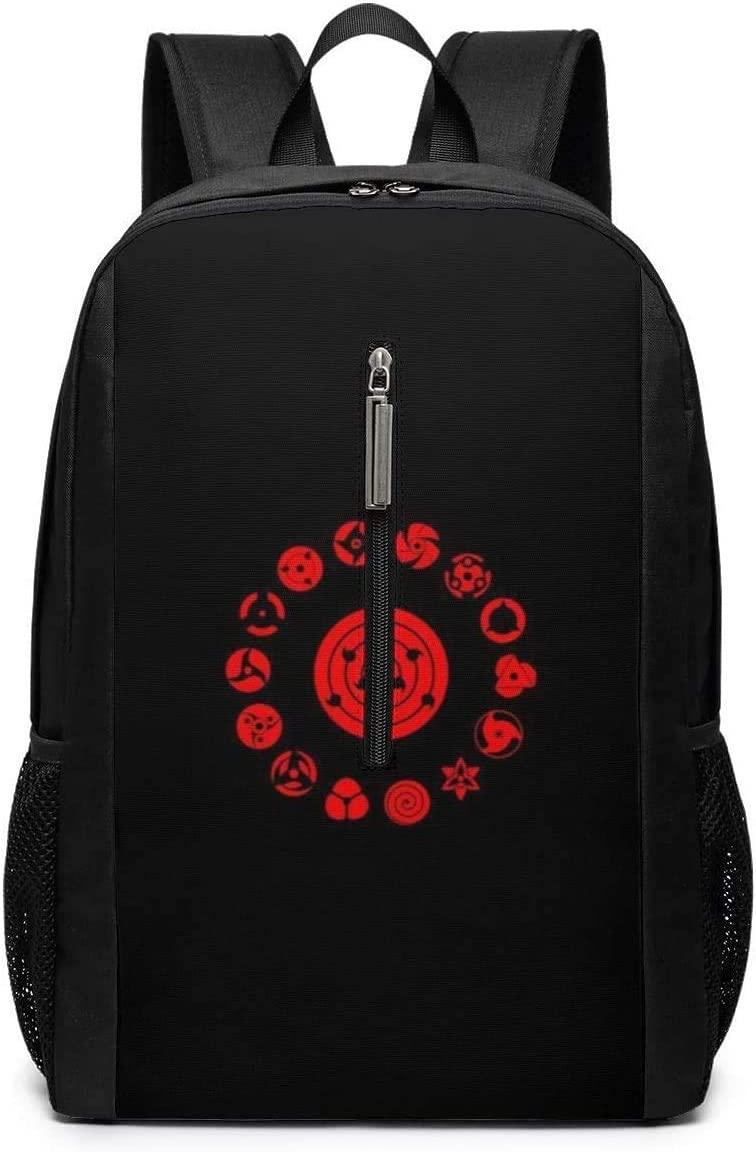 Backpack 17 Inch, Naruto Blood Wheel Eye Large Laptop Bag Travel Hiking Daypack for Men Women School Work