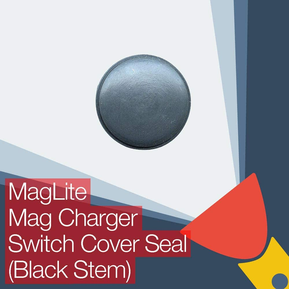 MagLite Rechargeable Mag Charger Replacement Rubber Switch Button Cover Seal (Black Stem)