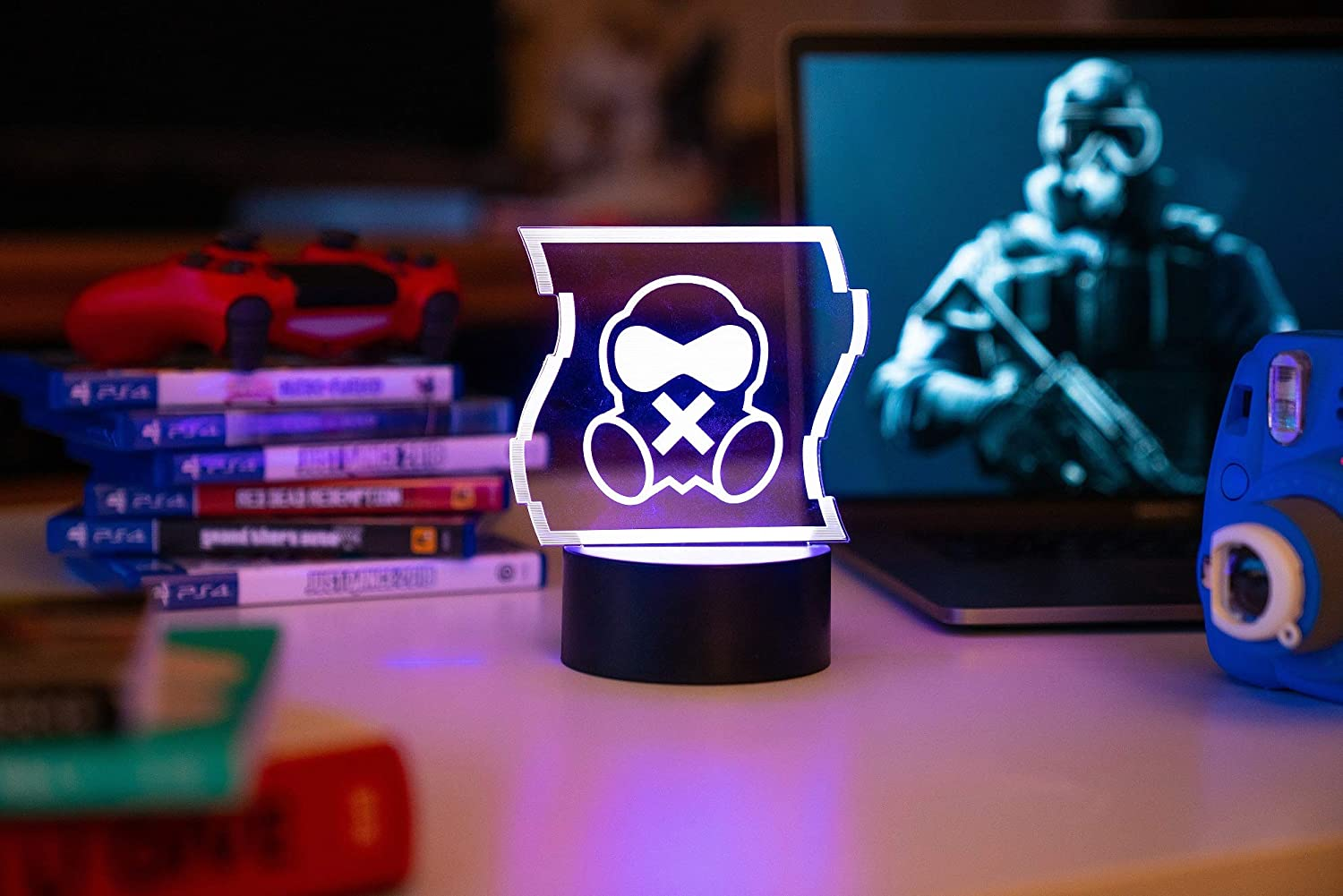 Six Siege LED Lamp - Mute Operator - Home Decor Light for Gaming Den of Rainbow Six Siege Players and Cosplayers