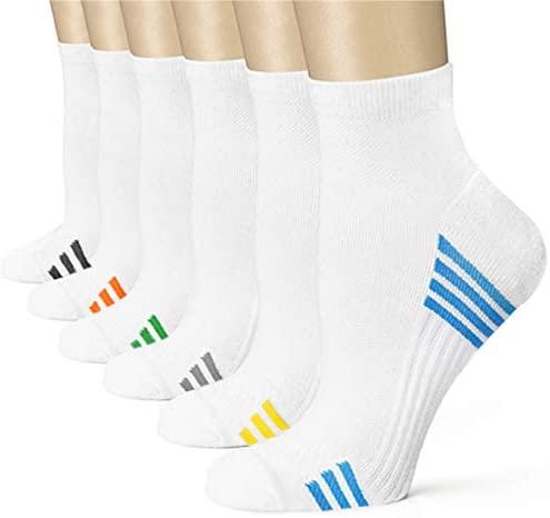 Compression Socks (6 Pairs),15-20 mmhg is BEST Athletic for Men & Women, Running, Flight, Travel (SS-1B, L/XL)