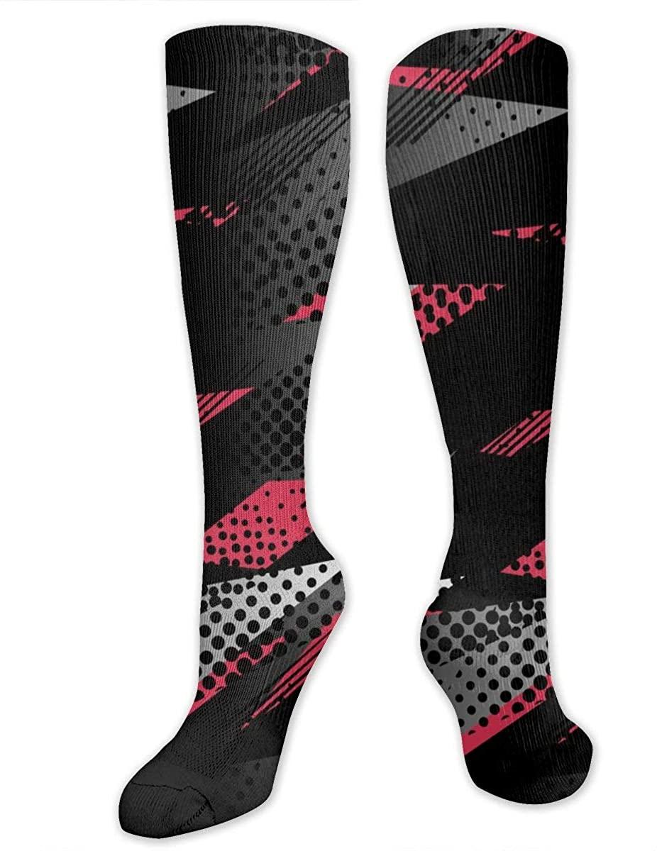 Abstract Geometric Athletic Socks Thigh Stockings Over Knee Leg High Socks