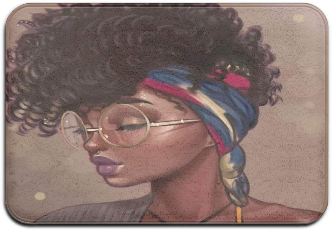 SARA NELL Memory Foam African American Women with Folk Custom Scarf Bath Rug (23.6x15.7) Cushioned Soft Floor Mats,Absorbent Bathroom Mat Rugs,Machine Wash + Dry, Luxury Plush Comfortable Carpet