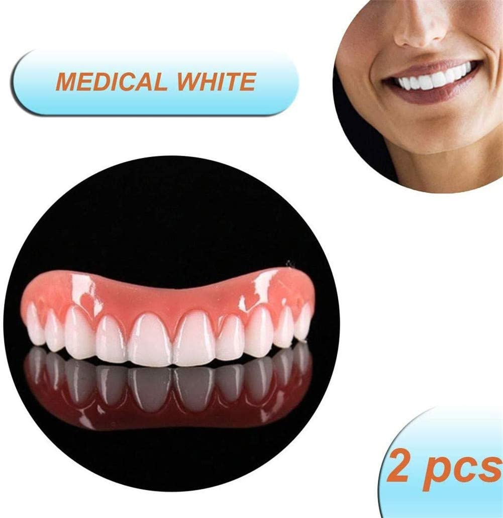 Ulat Cosmetic Teeth Whitening Snap on Smile Top False Teeth Instant Prosthesis Smile Comfort Fit Flex Oral Care