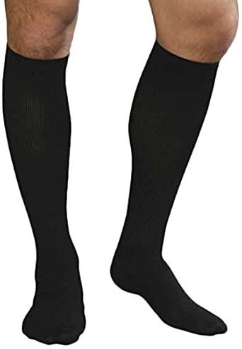 Advanced Orthopaedics Mens Support Socks (15-20 mm Hg Compression), Small, Black