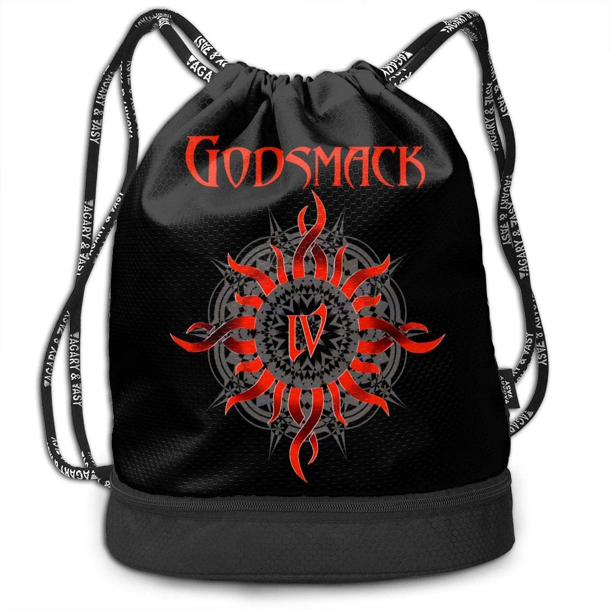 Godsmack Drawstring Bag Gym Lightweight Bundle Backpack For Men Women Kids School Gym Travel